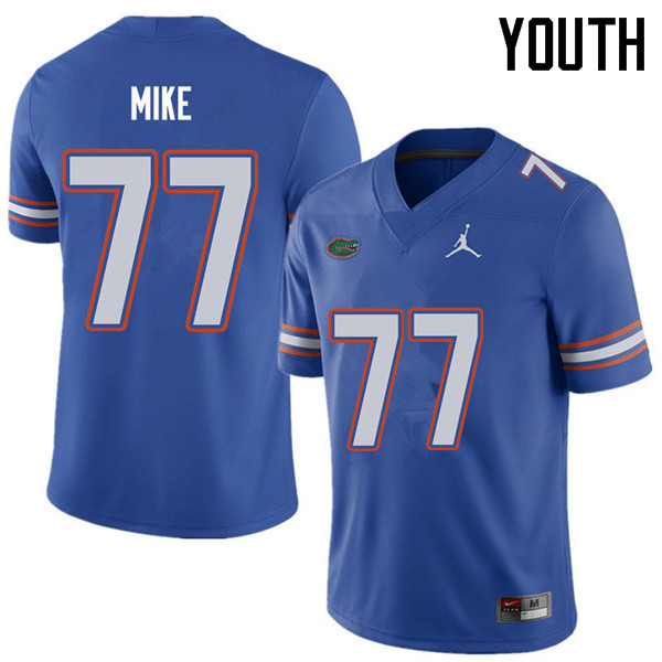 Jordan Brand Youth #77 Andrew Mike Florida Gators College Football Jerseys Sale-Royal