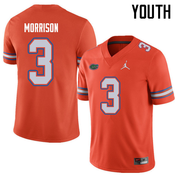 Jordan Brand Youth #3 Antonio Morrison Florida Gators College Football Jerseys Sale-Orange