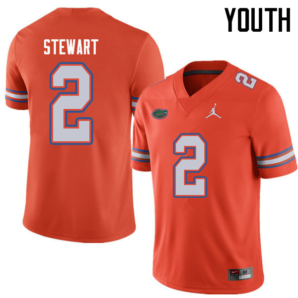 Jordan Brand Youth #2 Brad Stewart Florida Gators College Football Jerseys Sale-Orange