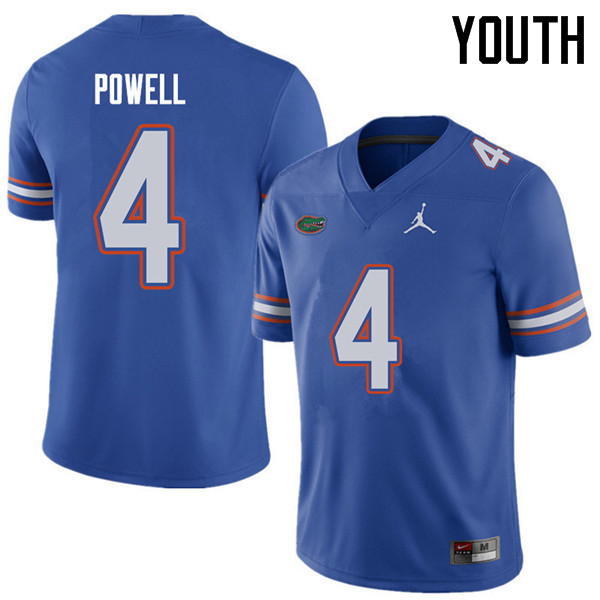 Jordan Brand Youth #4 Brandon Powell Florida Gators College Football Jerseys Sale-Royal