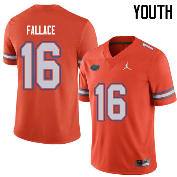 Jordan Brand Youth #16 Brian Fallace Florida Gators College Football Jerseys Sale-Orange