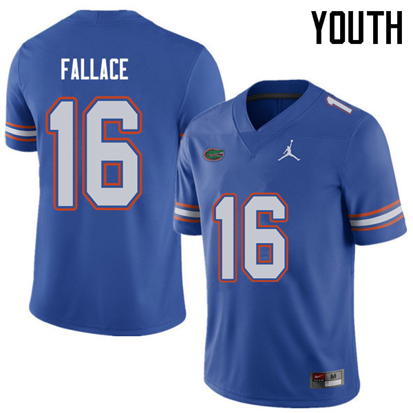 Jordan Brand Youth #16 Brian Fallace Florida Gators College Football Jerseys Sale-Royal