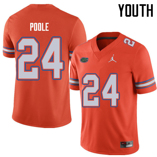 Jordan Brand Youth #24 Brian Poole Florida Gators College Football Jerseys Sale-Orange