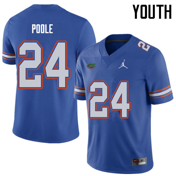 Jordan Brand Youth #24 Brian Poole Florida Gators College Football Jerseys Sale-Royal