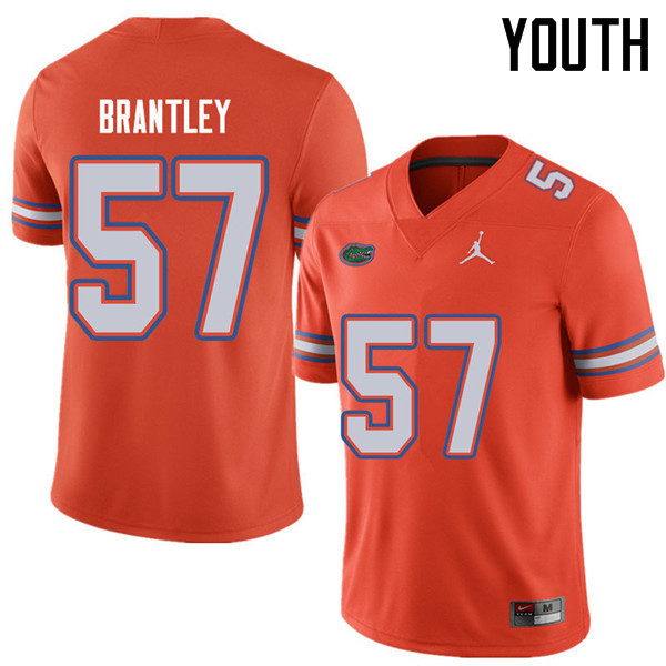 Jordan Brand Youth #57 Caleb Brantley Florida Gators College Football Jerseys Sale-Orange