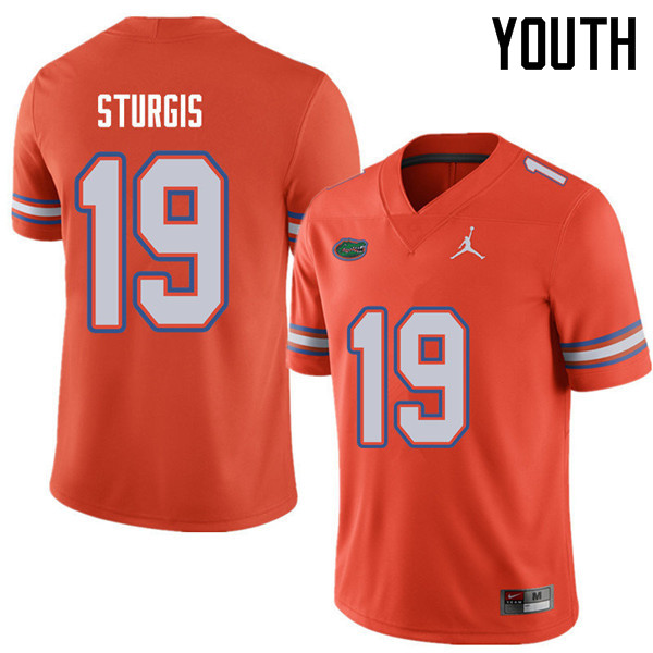Jordan Brand Youth #19 Caleb Sturgis Florida Gators College Football Jerseys Sale-Orange