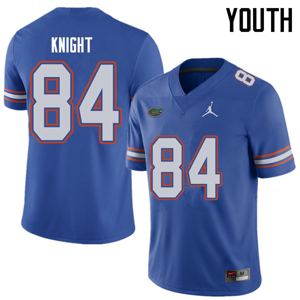 Jordan Brand Youth #84 Camrin Knight Florida Gators College Football Jerseys Sale-Royal