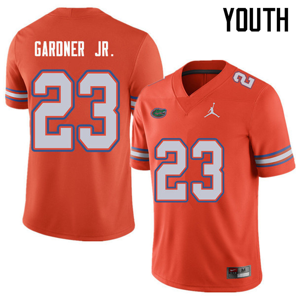 Jordan Brand Youth #23 Chauncey Gardner Jr. Florida Gators College Football Jerseys Sale-Orange