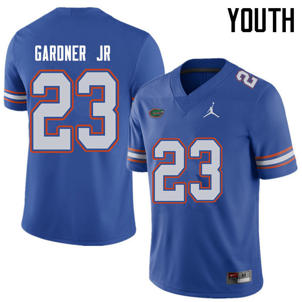 Jordan Brand Youth #23 Chauncey Gardner Jr. Florida Gators College Football Jerseys Sale-Royal