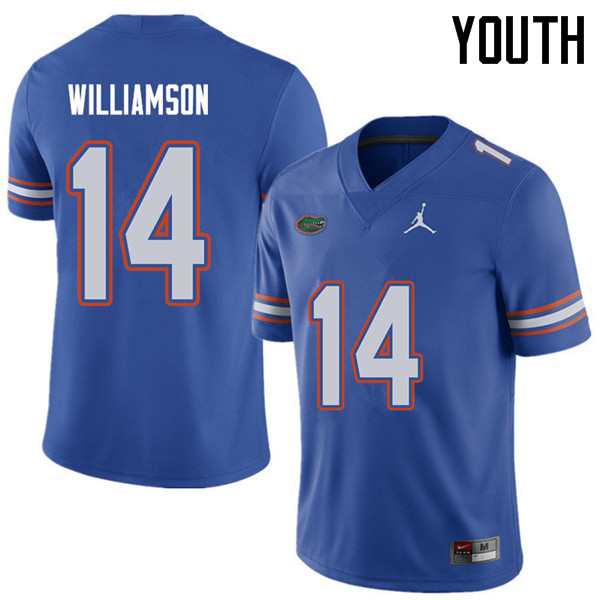 Jordan Brand Youth #14 Chris Williamson Florida Gators College Football Jerseys Sale-Royal