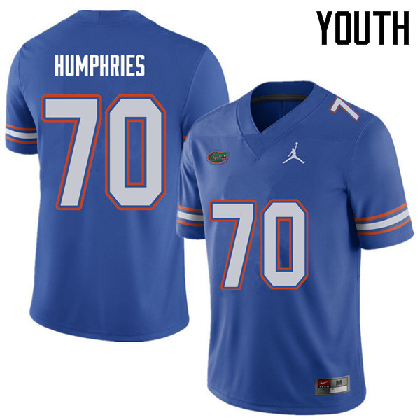 Jordan Brand Youth #70 D.J. Humphries Florida Gators College Football Jerseys Sale-Royal