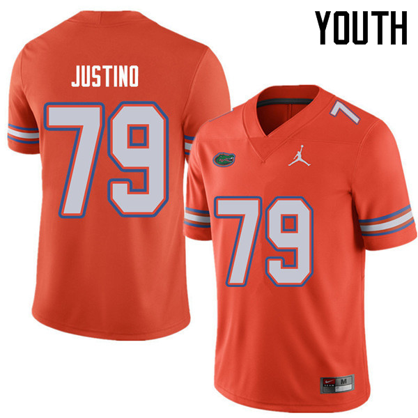 Jordan Brand Youth #79 Daniel Justino Florida Gators College Football Jerseys Sale-Orange