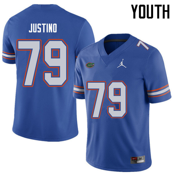 Jordan Brand Youth #79 Daniel Justino Florida Gators College Football Jerseys Sale-Royal