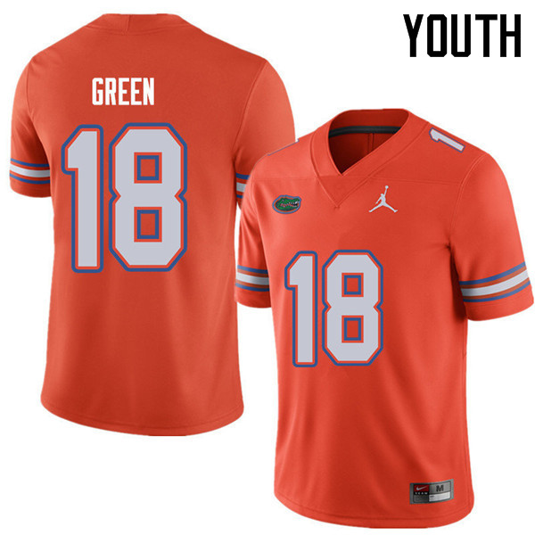 Jordan Brand Youth #18 Daquon Green Florida Gators College Football Jerseys Sale-Orange