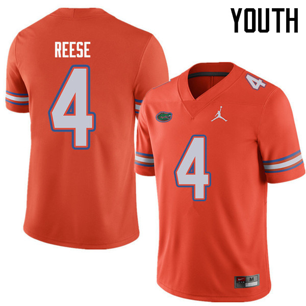 Jordan Brand Youth #4 David Reese Florida Gators College Football Jerseys Sale-Orange