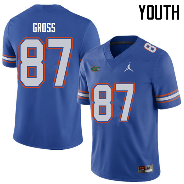 Jordan Brand Youth #87 Dennis Gross Florida Gators College Football Jerseys Sale-Royal