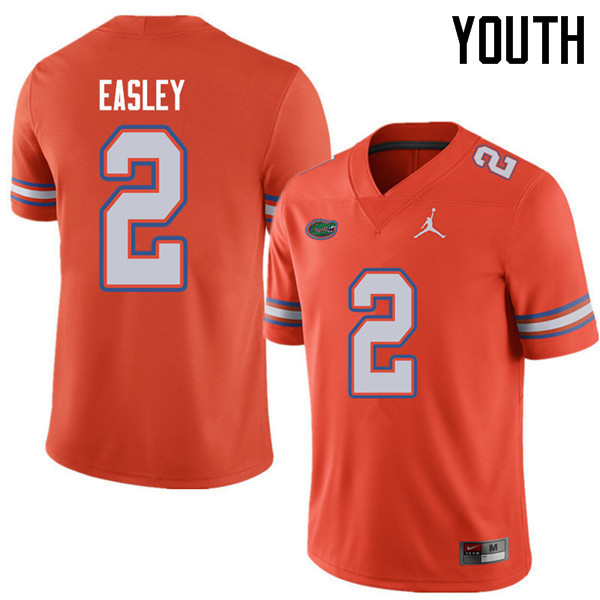 Jordan Brand Youth #2 Dominique Easley Florida Gators College Football Jerseys Sale-Orange