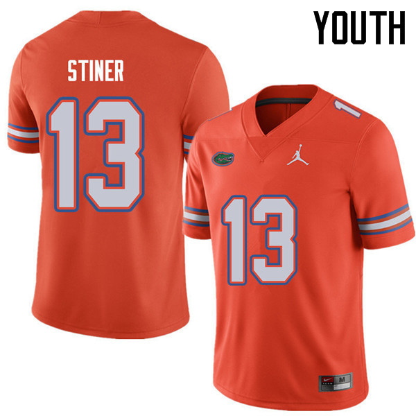 Jordan Brand Youth #13 Donovan Stiner Florida Gators College Football Jerseys Sale-Orange
