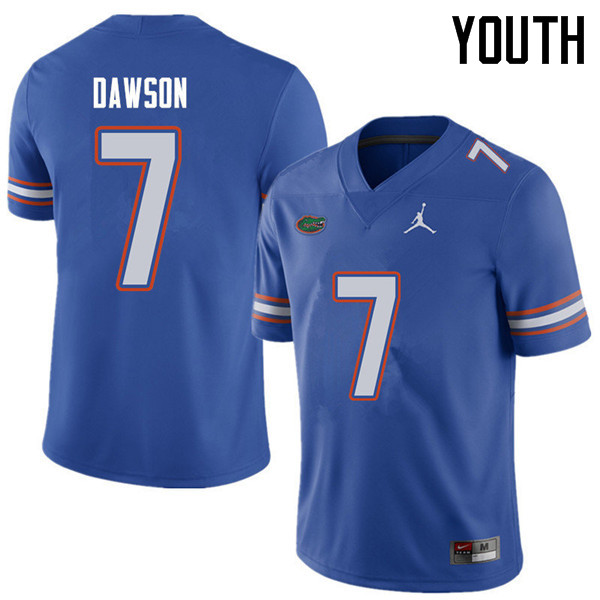 Jordan Brand Youth #7 Duke Dawson Florida Gators College Football Jerseys Sale-Royal