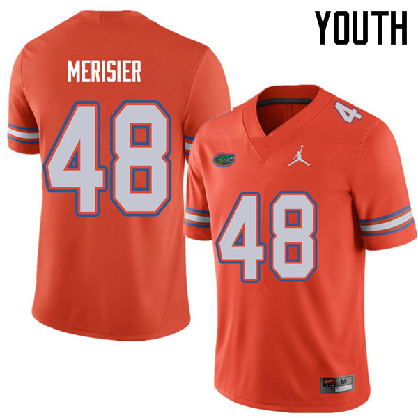 Jordan Brand Youth #48 Edwitch Merisier Florida Gators College Football Jerseys Sale-Orange