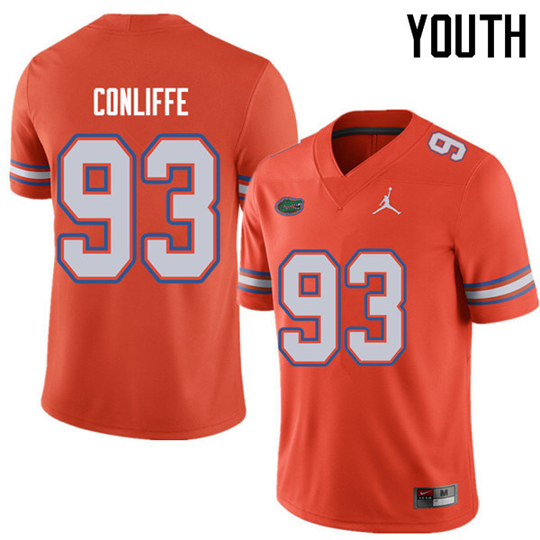 Jordan Brand Youth #93 Elijah Conliffe Florida Gators College Football Jerseys Sale-Orange