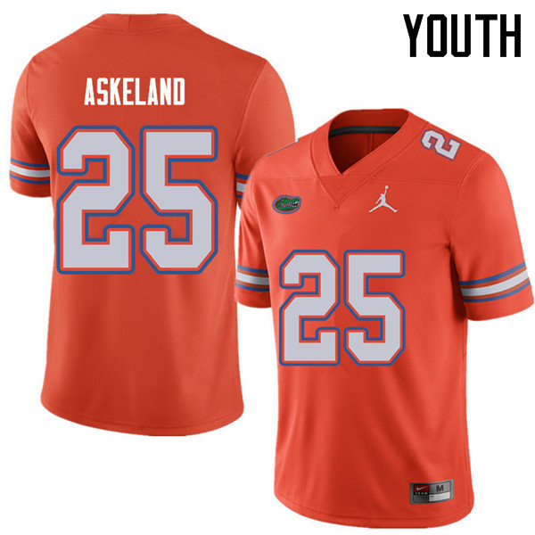 Jordan Brand Youth #25 Erik Askeland Florida Gators College Football Jerseys Sale-Orange