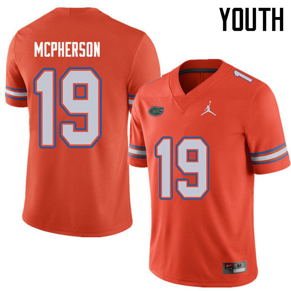Jordan Brand Youth #19 Evan McPherson Florida Gators College Football Jerseys Sale-Orange