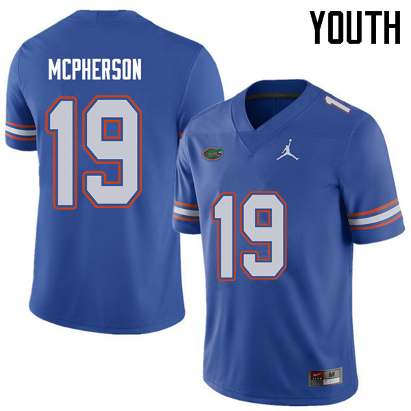 Jordan Brand Youth #19 Evan McPherson Florida Gators College Football Jerseys Sale-Royal