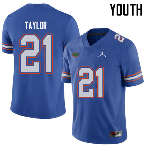 Jordan Brand Youth #21 Fred Taylor Florida Gators College Football Jerseys Sale-Royal