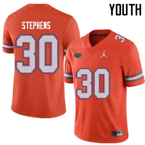 Jordan Brand Youth #30 Garrett Stephens Florida Gators College Football Jerseys Sale-Orange
