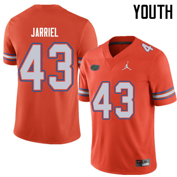 Jordan Brand Youth #43 Glenn Jarriel Florida Gators College Football Jerseys Sale-Orange
