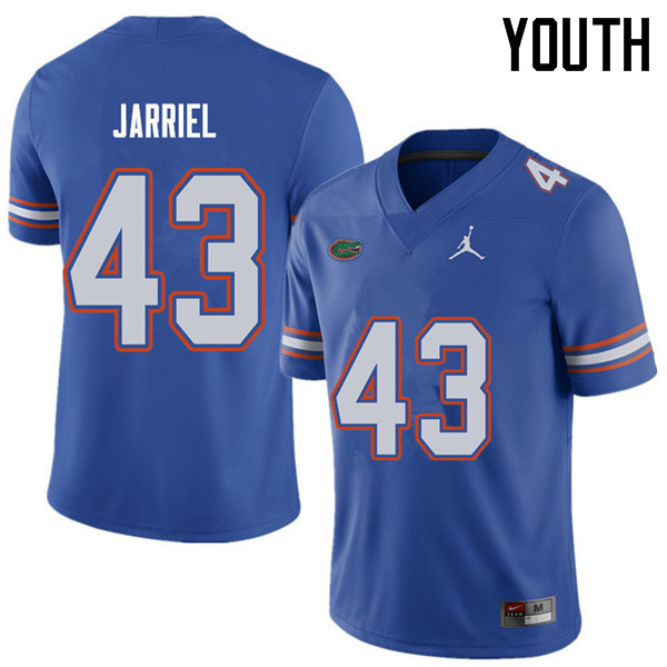 Jordan Brand Youth #43 Glenn Jarriel Florida Gators College Football Jerseys Sale-Royal