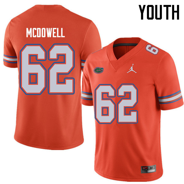 Jordan Brand Youth #62 Griffin McDowell Florida Gators College Football Jerseys Sale-Orange