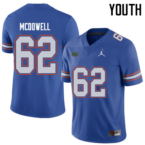Jordan Brand Youth #62 Griffin McDowell Florida Gators College Football Jerseys Sale-Royal