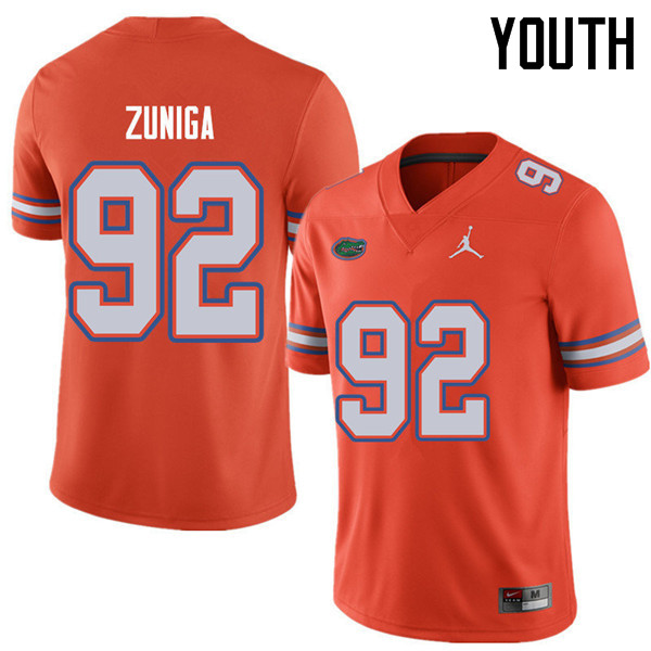 Jordan Brand Youth #92 Jabari Zuniga Florida Gators College Football Jerseys Sale-Orange
