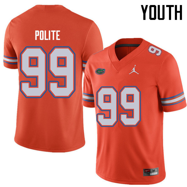Jordan Brand Youth #99 Jachai Polite Florida Gators College Football Jerseys Sale-Orange