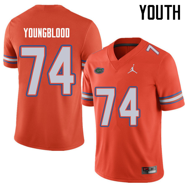 Jordan Brand Youth #74 Jack Youngblood Florida Gators College Football Jerseys Sale-Orange
