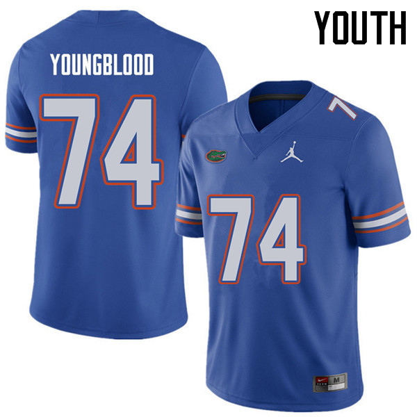 Jordan Brand Youth #74 Jack Youngblood Florida Gators College Football Jerseys Sale-Royal