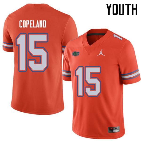 Jordan Brand Youth #15 Jacob Copeland Florida Gators College Football Jerseys Sale-Orange