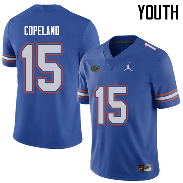 Jordan Brand Youth #15 Jacob Copeland Florida Gators College Football Jerseys Sale-Royal