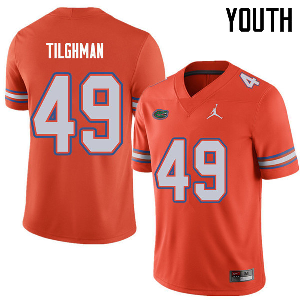 Jordan Brand Youth #49 Jacob Tilghman Florida Gators College Football Jerseys Sale-Orange