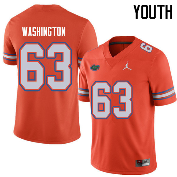 Jordan Brand Youth #63 James Washington Florida Gators College Football Jerseys Sale-Orange