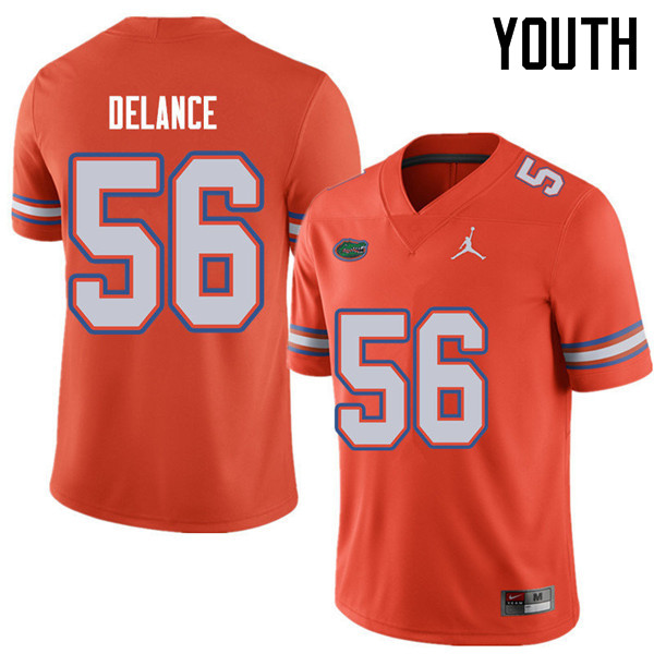 Jordan Brand Youth #56 Jean Delance Florida Gators College Football Jerseys Sale-Orange
