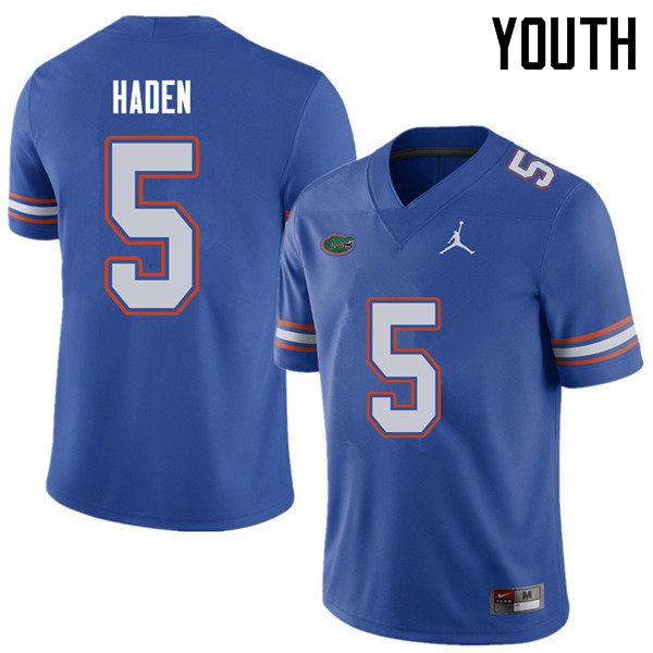 Jordan Brand Youth #5 Joe Haden Florida Gators College Football Jerseys Sale-Royal