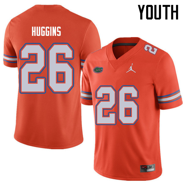 Jordan Brand Youth #26 John Huggins Florida Gators College Football Jerseys Sale-Orange
