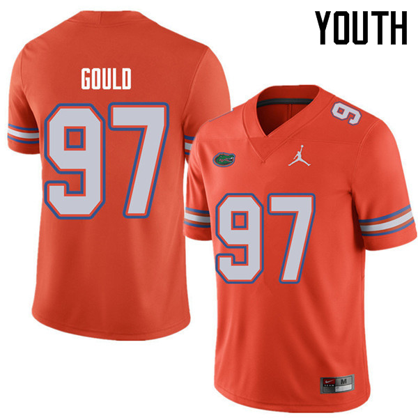 Jordan Brand Youth #97 Jon Gould Florida Gators College Football Jerseys Sale-Orange