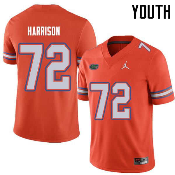 Jordan Brand Youth #72 Jonotthan Harrison Florida Gators College Football Jerseys Sale-Orange