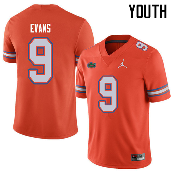 Jordan Brand Youth #9 Josh Evans Florida Gators College Football Jerseys Sale-Orange