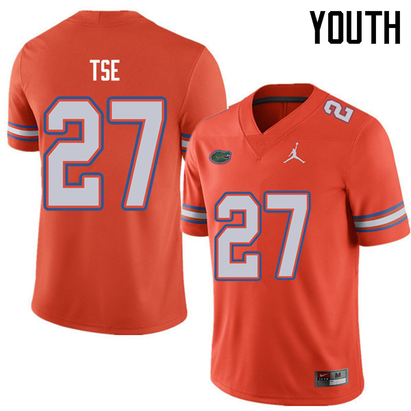 Jordan Brand Youth #27 Joshua Tse Florida Gators College Football Jerseys Sale-Orange
