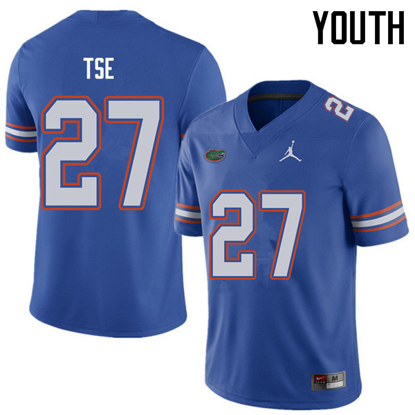 Jordan Brand Youth #27 Joshua Tse Florida Gators College Football Jerseys Sale-Royal